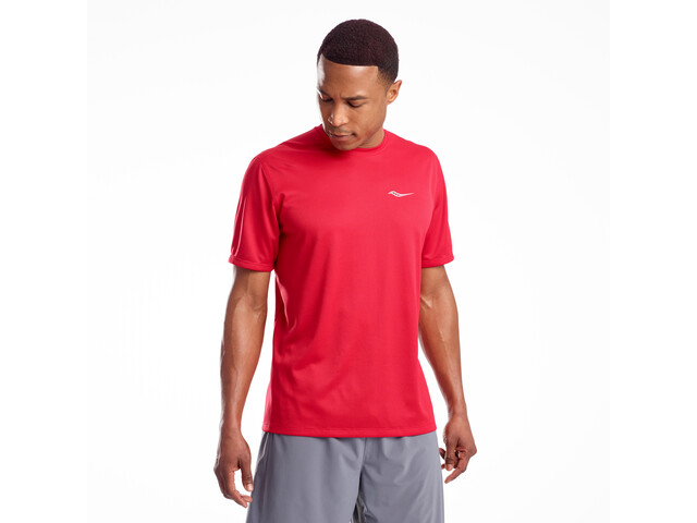 saucony Stopwatch T-shirt Heren, saucony red